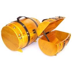 Set da 2 pz botte in legno colore chiaro