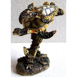 Tartarughe con base in resina cm 10x6x4