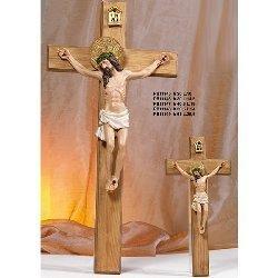 Crocifisso in legno cm 61x29.5 con Cristo in resina