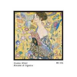Gustav Klimt Ritratto Signora Cm. 68x68