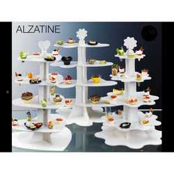 Alzatina In Plastica Bianca Per Coni Finger Food Altezza Cm.70