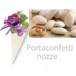 Scatola Cono Trapunta Bianco Altezza Mm 155 Pz.50