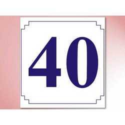 Segnatavoli Numerati In Plastica Mm. 70x60 Da 31 A 40 Bianchi