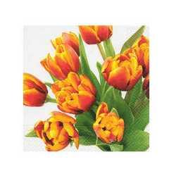 Tovaglioli 3 Veli Tulipani Cm 33x33 Pz.20