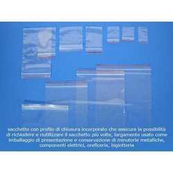 Sacchetti Micron 50 Chiusura Minigrip Neutro Cm. 18x25 Pz.100