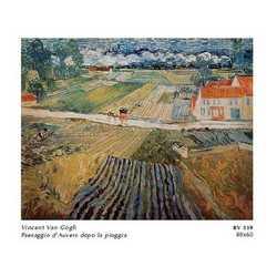 Vincent Van Gogh Paesaggio D'auvers Dopo La Pioggia Cm. 80x60
