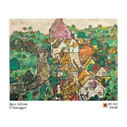 Egon Schiele Il Paesaggio Cm. 88x68
