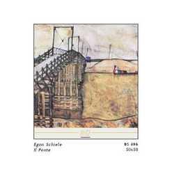 Egon Schiele Il Ponte Cm. 50x50