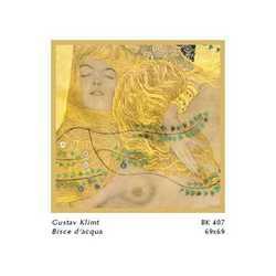 Gustav Klimt Biscie D'acqua Cm. 69x69
