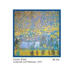 Gustav Klimt Unterach Attersee Cm. 33x33