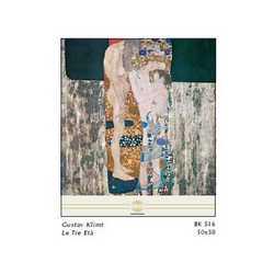 Gustav Klimt Le Tre Eta' Cm. 50x50