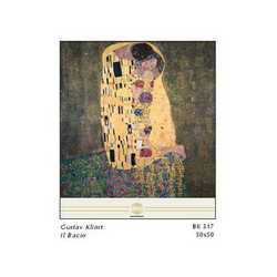Gustav Klimt Il Bacio Cm. 50x50