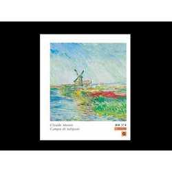 Claude Monet Champ De Tulipes Cm.90x90