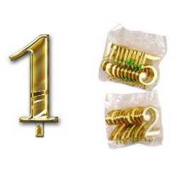 Numero 1 Per Torta Cm. 3x4 Pz. 10