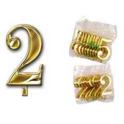 Numero 2 Per Torta Cm. 3x4 Pz. 10