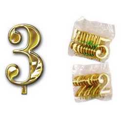 Numero 3 Per Torta Cm. 3x4 Pz. 10