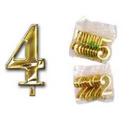 Numero 4 Per Torta Cm. 3x4 Pz. 10