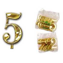 Numero 5 Per Torta Cm. 3x4 Pz. 10