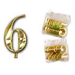 Numero 6 Per Torta Cm. 3x4 Pz. 10