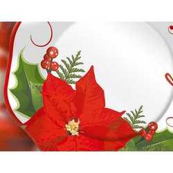 Piatti Carta Diametro Cm. 27 Pz.5 Stella Di Natale