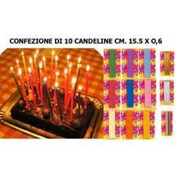 12 Candeline Matita Giallo Diam. Mm. 6x15,5 Cm.