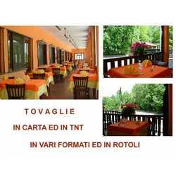 Tovaglia Carta Politenata Rosso Cm 100x100 Pz.150