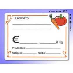 Segna Prezzi In Plastica Ortaggi Mm. 125x85 Pz. 20