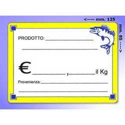 Segna Prezzi In Plastica Pesce Mm. 125x85 Pz. 20