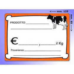 Segna Prezzi In Plastica Carne Mm. 125x85 Pz. 20