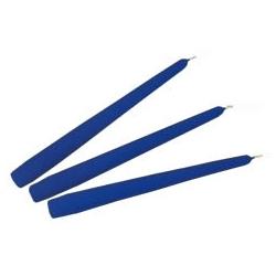 Candele Coniche Lucide Blu Diam. Cm 2,2 H.20 Pz.3