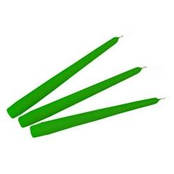 Candele Coniche Lucide Verde Diam. Cm 2,2 H.20 Pz.3