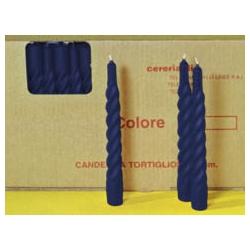 Candele Spirali Blu H. Cm. 20 Pz. 100