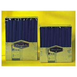 Candele Coniche Blu Notte H. Cm. 20 Pz. 50