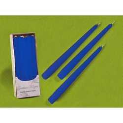 Candele Coniche Blu Diam. Cm 2,2 H.25 Pz.10