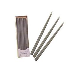 Candele Coniche Argento Diam. Cm 2,2 H.40 Pz.6