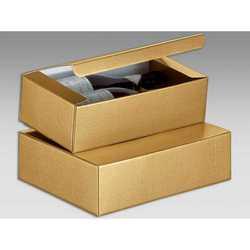 Scatola Unica 2 Bottiglie Seta Oro Mm. 340x185x95 Pz.10