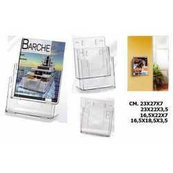 Portadepliant Componibili In Plastica Trasparente Cm. 16,5x18,5