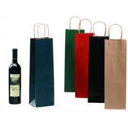 Borsa Avana Rosso Per 1/2 Bottiglie Cm 16+7x39 Pz.50