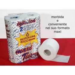 Carta Igienica Maxi 2 Veli Diam. Cm. 11x60 Mt. Pz. 6