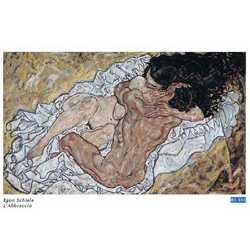 Egon Schiele L'abbraccio Cm. 88x52