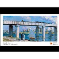 Claude Monet Ponte Della Ferrovia Cm.60x100