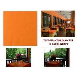 Tovaglia Carta Politenata Arancio Cm. 100x100 Pz.100