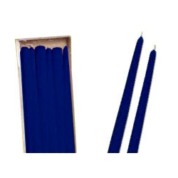 Candele Coniche Blu Notte Diam. Cm 2,2 H.40 Pz.6