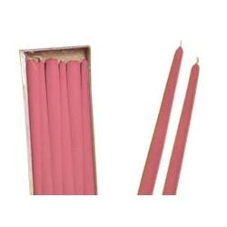 Candele Coniche Rosa Diam. Cm 2,2 H.40 Pz.6