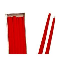 Candele Coniche Rosse Diam. Cm 2,2 H.40 Pz.6