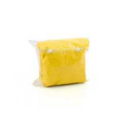 Maxi poncho impermeabile giallo