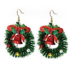 Set di 2 orecchini natalizi
