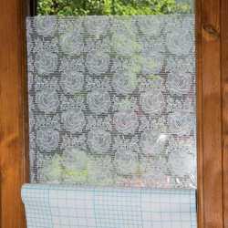 Pellicola decorativa per finestre effetto pizzo