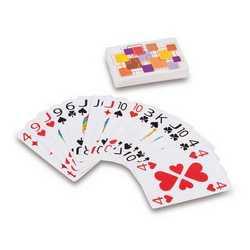 Carte da gioco con numeri grandi