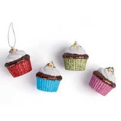 Set 8 cup cake per albero di Natale